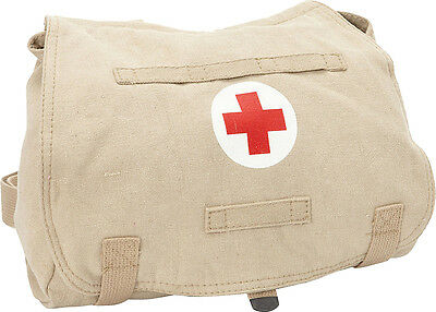 Khaki Fox Outdoor Hungarian Red Cross Canvas Shoulder Bag