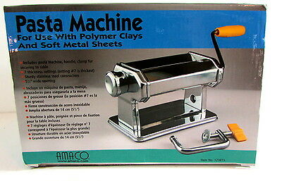 Amaco Pasta Machine for Polymer Clay & Soft Metal #12381S
