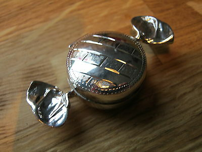 A Gorgeous English Hallmarked Sterling Silver Sweet Shaped Love Box Snuff Pill