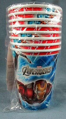 16 Hallmark Marvel Avengers 9-Ounce Paper Party Cups 2 Pack of 8 Party Supplies