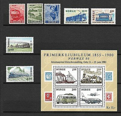 Norvège Norge neuf**  lot timbres   train tramway  chemin de fer