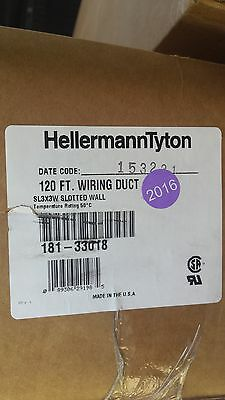 "HellermannTyton Wire Duct Slotted, White, 3""W x 3""H, 120 ft Free Local Shipping"