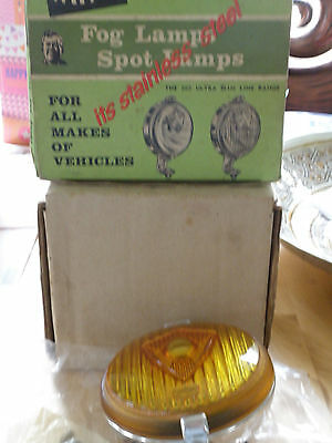 Rare Superb Boxed C1960 Wipac Stainless Steel Fog Lamp Unused.