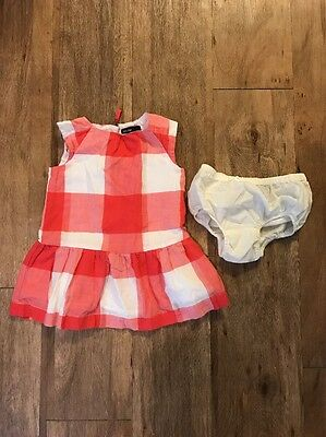 Baby Gap Red Picnic Check Dress Size 12-18 months