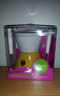 Colours From Kitchen Craft Chocolate Fondue Set New