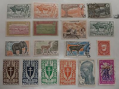 Cameroon small collection x 18 stamps.