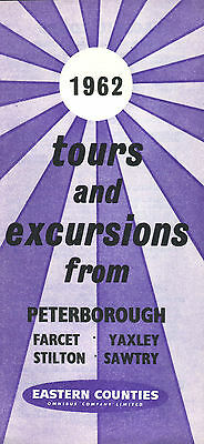 Eastern Counties 1962 12-Page Leaflet Tours & Excursions From Peterborough