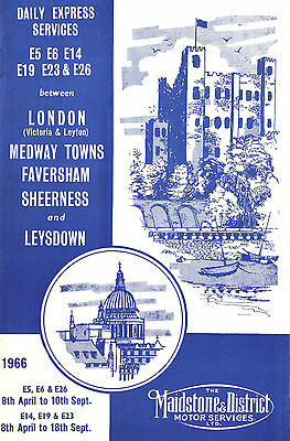 Maidstone & District 1966 Express Services Time And Fare Table Booklet