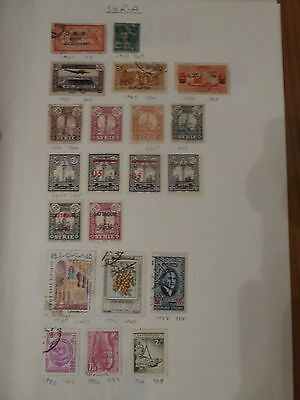 Syria collection of 32 stamps