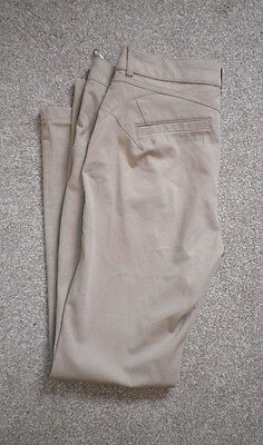 Per Una Marks & Spencer. Straight Leg Jeans In Beige. Uk Size 12M