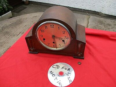 Vintage  Foreign   Art  Deco  Westminster   Chime   Mantel  Clock.