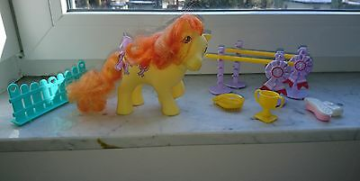 My little pony, mein kleines pony vintage Rosette Prize Day Playset COMPLETE