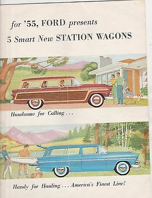 1955 Ford Station Wagons Brochure