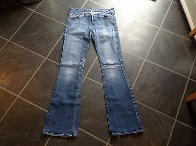 Ladies 7 For All Mankind Jeans Size 26 Uk 8 Leg 32""