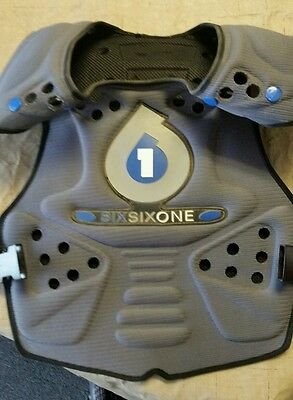 Six Six One Core Saver Chest Protector - L XL Large Black Adult riding gear