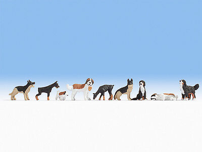 Noch x 9 Dogs Set 1 15717 HO Scale (suit OO also)