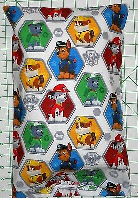 Paw Patrol characters on white Small Pillow Case & Travel / Toddler Pillow