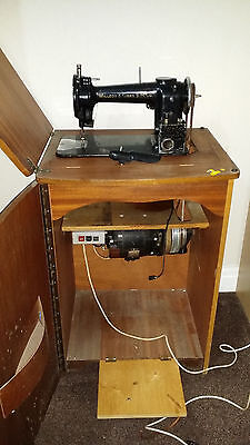 Vintage 1871 Willcox & Gibbs Industrial Sewing Machine In Cabinet With Motor