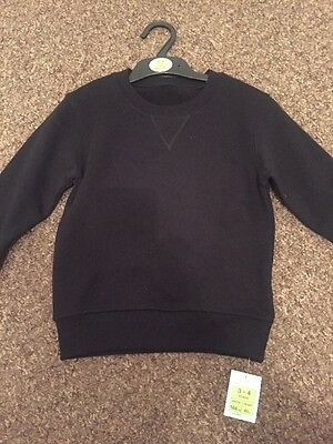 Boys Marks And Spencer Black Jumper BNWT 3-4 Years