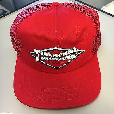 Thrasher Diamond Emblem Red Trucker Hat Skateboarding