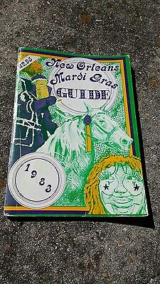 Vintage 1983 Mardi Gras Guide with King Cake Doubloon, 1883 Rex Invitation