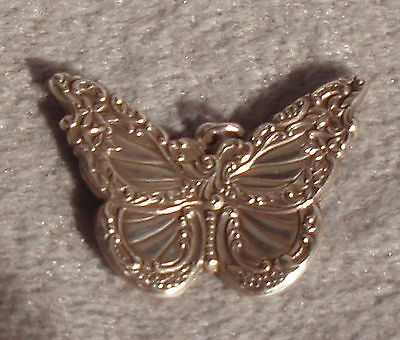 Wallace Grand Baroque Repousse Sterling Silver Butterfly Charm Pendant Ornament
