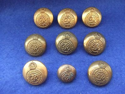 Job Lot Of George Vi Royal Army Service Corps Officers/or Military Buttons