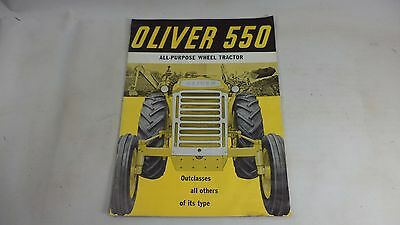 Oliver 550 ALL PURPOSE WHEEL Tractor Standard Operator Manual Brochure Book