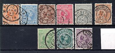 Netherlands (1212) 1891 Queen Wilhelmina Selection of used to 25 cents