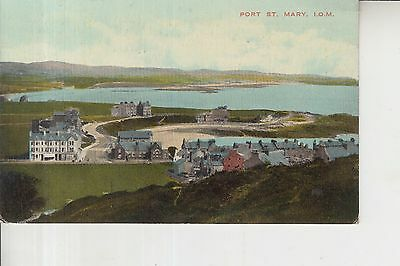 Old Rare Postcard 1925 Port St. Mary Isle of Man