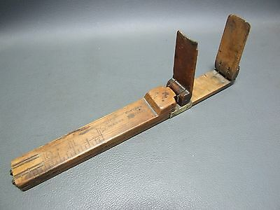 Vintage boxwood & brass foot shoe measure rule ruler by Roberts
