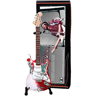 Jimi Hendrix Monterey Fender Miniature Guitar By Axe Heaven Officially Licensed