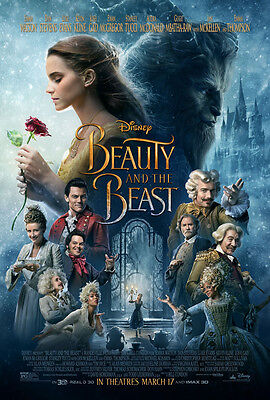 BEAUTY AND THE BEAST MOVIE POSTER 2 Sided ORIGINAL FINAL Ver B 27x40 EMMA WATSON