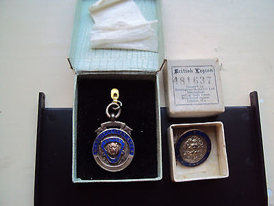 TWO early collectors BRITISH LEGION BADGES IN ORIGINAL BOXES
