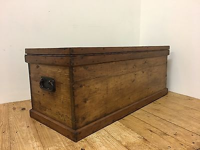 Antique Victorian Pine Chest / Coffee Table