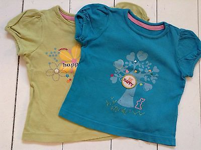 Girls Mothercare T-shirts Size 1-1 1/2 Years X 2