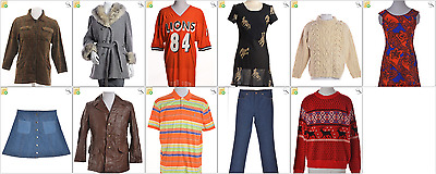 JOB LOT OF 11 MIXED VINTAGE GARMENTS - Mix of Era's, styles and sizes (21410)*