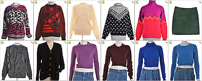 JOB LOT OF 16 MIXED VINTAGE KNITS - Mix of Era's, styles and sizes (21694)*