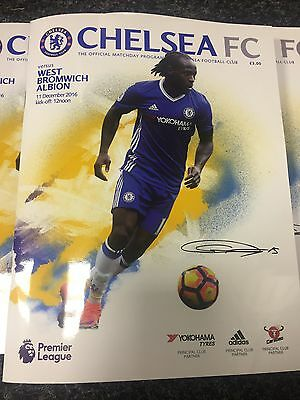Chelsea v West Brom Official Matchday Programme 11/12/2016  MINT
