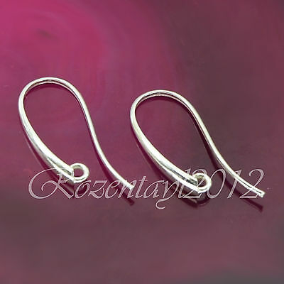 Sterling Silver 925 Earwires Fish Hook Findings A021