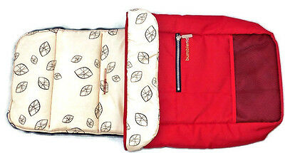 BumbleRide Footmuff and Seat Liner, Red, Leaf Print, for Indie, No Packaging