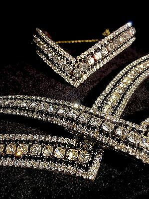 Bling V Shaped Luxury Ice Crystal Stone Browband. Sparkly.  SALE