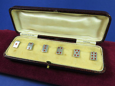 Silver & Enamel Amnora Cup Tokens Adolph Scott 1928 ~ Bridge Party Playing Cards