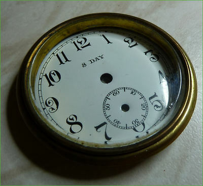 Antique clock dial, bezel and glass