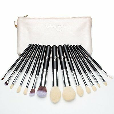 NEW Qivange 15 pcs Make up Brushes Synthetic Cosmetics Brush Set with Bag