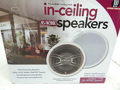 """Yamaha NS-IW280CWH 6.5"""" 3-Way In-Ceiling Speaker System (White, Pair) BOX DMG"""