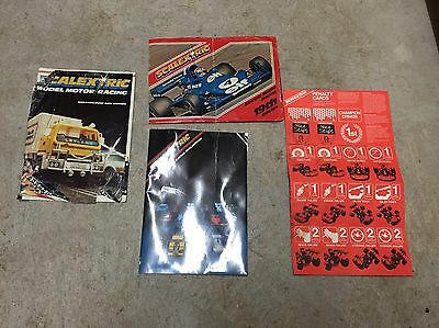 3 Hornby Scalextric A4 Magazines / Catalogues + Card Game, Slot Cars