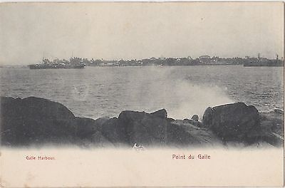 Sri Lanka Postcard. Ships in Galle Harbour. Point du Galle. Ceylon. c  1907