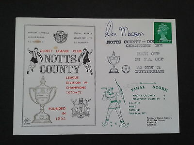 NOTTS COUNTY(signed DON MASSON) v NEWPORT COUNTY 1971 Football League Series