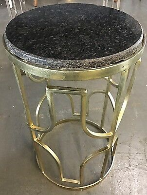 Atkin And Thyme - Granite Side Table, End Tables, Black, Living Room, Furniture